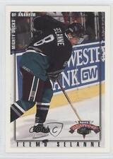 1996-97 Topps NHL Picks #7 Teemu Selanne Anaheim Ducks (Mighty of Anaheim) Card