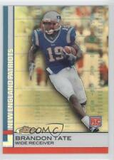 2009 Topps Finest Gold Refractor #97 Brandon Tate New England Patriots Card