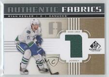 2011-12 SP Game Used Edition Authentic Fabrics Gold #AF-RK Ryan Kesler (1) Card