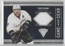 2011-12 Panini Titanium Game-Worn Gear #9 Teemu Selanne Hockey Card