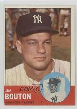 1963 Topps #401 Jim Bouton New York Yankees Baseball Card