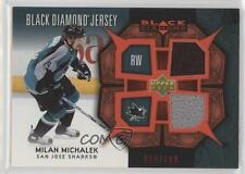 2007-08 Upper Deck Black Diamond Jerseys Dual Ruby #BDJ-MM Milan Michalek Card