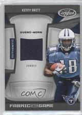 2009 Certified Fabric of the Game Rookies #7 Kenny Britt Tennessee Titans Card
