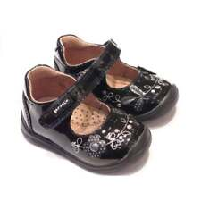 Garvalin Toddler Girls Black Patent Leather Shoes With Silver Detail