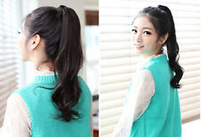 New Fashion Women Long Curly Wavy Ponytail Pony Wigs Hair Hairpiece
