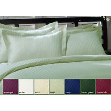 Sale 1000TC Ultra Soft 2PC Pillow Shams Striped 100% Cotton All Sizes & Colors