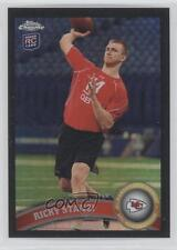 2011 Topps Chrome Black Refractor 53 Ricky Stanzi Kansas City Chiefs Rookie Card
