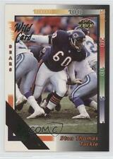 1992 Wild Card 10 Stripe #138 Stan Thomas Chicago Bears Football