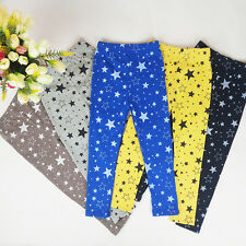 Baby Kids Girls Warm Stretchy Leggings Star Printed Toddler Tight Pants Trousers