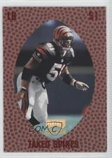 1998 Playoff Momentum Retail Red 213 Takeo Spikes Cincinnati Bengals Rookie Card