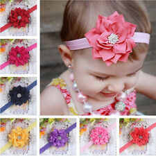 Kid Baby Girl Rhinestone Flower Headband Infant Toddler Hair Bow Band Accessorie