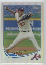 2013 Topps Chrome Refractor #23 Julio Teheran Atlanta Braves Baseball Card