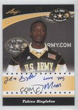 2011 Leaf US Army All-American Bowl #TA-1 Tobias Singleton Auto Football Card