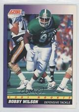 1991 Score #606 Bobby Wilson Michigan State Spartans RC Rookie Football Card