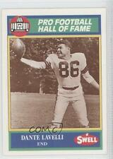 1990 Swell Pro Football Hall of Fame #82 Dante Lavelli Card
