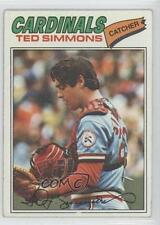 1977 Topps #470 Ted Simmons St. Louis Cardinals Baseball Card