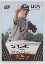 2008 Upper Deck USA Baseball Teams Box Set #92 Wes Hatton Auto Autographed Card