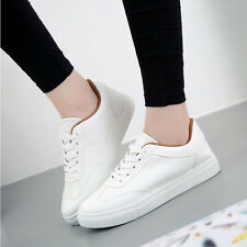 Fashion Womens Lace Up Sneakers Comfy Casual Walking Running Skateboarding Shoes
