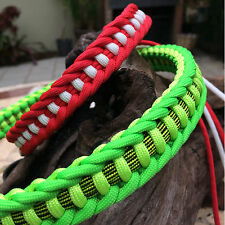 Christmas Season Jagged Ladder Paracord Dog Collar, handmade in USA All Sizes