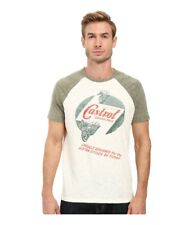 Lucky Brand Mens Castrol Grand Prix Motorcycle Graphic T-Shirt