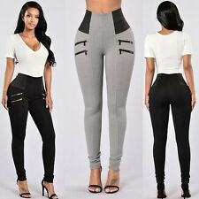 Womens High Waist Stretch Jeans Jeggings Skinny Leggings Pencil Pants Trousers