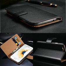 Genuine Leather Magnetic Flip Card Wallet Stand Cover Case For Apple iPhone