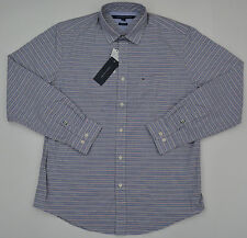 NWT Men's Tommy Hilfiger Button Front Long Sleeve Casual Shirt Gray Classic L