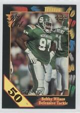 1991 Wild Card Draft 50 Stripe 102 Bobby Wilson Michigan State Spartans Football