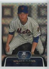 2012 Bowman Platinum Prospects X-Fractor #BPP12 Wilmer Flores New York Mets Card