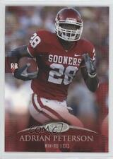 2007 SAGE Autographed Football #41 Adrian Peterson Oklahoma Sooners Rookie Card
