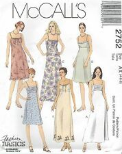 McCall's 2752 Misses'/Miss Petite Dress in Two Lengths 4, 6, 8   Sewing Pattern