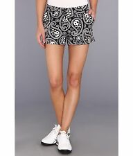 NWT Loudmouth golf MINI Shorts SHIVER ME TIMBERS size 0 2 black white 1925