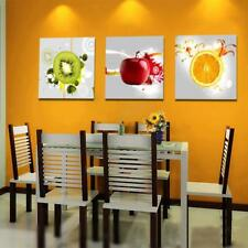 3pcs Canvas Kitchen Dining Room Wall Hanging Art Painting Picture Fruits Print