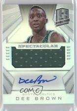 2014-15 Panini Spectra Spectacular Swatch Signatures Prizm #SS-DB Dee Brown Auto