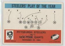 1965 Philadelphia #154 Pittsburgh Steelers Team New York Giants Football Card