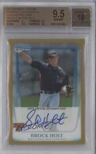 2011 Bowman Chrome BCP212 Brock Holt BGS 9.5 Pittsburgh Pirates Auto Rookie Card