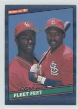 1986 Donruss #651 Willie McGee Vince Coleman St. Louis Cardinals Baseball Card