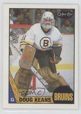 1987-88 O-Pee-Chee #147 Doug Keans Boston Bruins Hockey Card