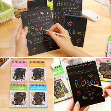 1 Book Scratch Scraping Art Magic Painting Paper Drawing Stick Kid Education Toy