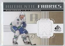 2011-12 SP Game Used Edition Authentic Fabrics Gold #AF-RK Ryan Kesler (R) Card