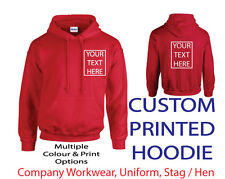 ~CUSTOM PRINTED HOODIE~ , Personalised - Stag / Hen / Workwear / Event, Hoody