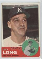 1963 Topps #484 Dale Long New York Yankees Baseball Card