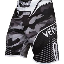 Venum Mens Camo Hero MMA Fight Shorts White Mix Martial Arts Training Cage UFC