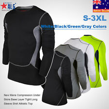 New Mens Compression Under Skins Base Layer Tight Long Sleeve Shirt Athletic Top