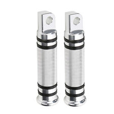 Chrome CNC Knurled Foot Peg Footpegs for Harley Touring Sportster Softail Rider