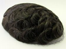 Hairpiece Toupee Light Chestnut / Dark Brown + A Little Gray 100% Human Hair 510