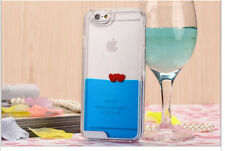 IPhone 5 & 6 Floating Liquid Love Hearts Phone Case Protector Cover Case *NEW*