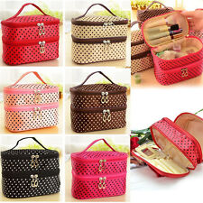 Women Multifunctional Travel Cosmetic Bag Makeup Case Pouch Toiletry Organizer