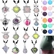 16mm Happy Baby Harmony Ball Pendant Silver Necklace Gift For Pregnant Women