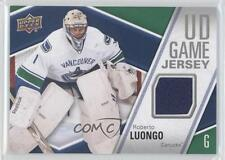 2011-12 Upper Deck UD Game Jersey #GJ-RL Roberto Luongo Vancouver Canucks Card